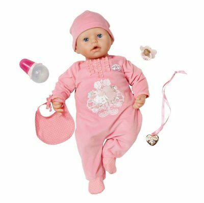 Baby-Annabell-Doll-Lifelike-Interactive-Pink-Bottle-Pacifier-Cries-Tears-Drinks