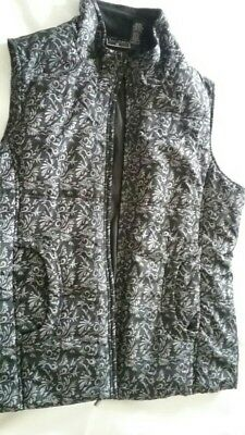 Women's grey and black Sleeveless Zipper Vest Size 1X