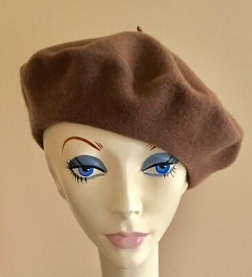 NWoT! LOT or 10 Parkhurst CLASSIC 100% Wool BERET/Hat MOCHA BROWN Style 25001