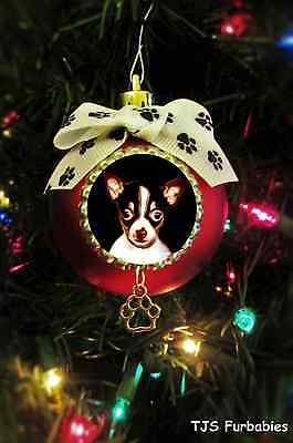 Toy Fox Terrier Puppy Dog-Painted Christmas Ball Ornament Pet Lovers Gift