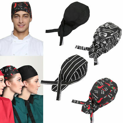Fashion Men Women Chef Hat Catering Baker Kitchen Cook Chef Elastic Cap Hat U.SA