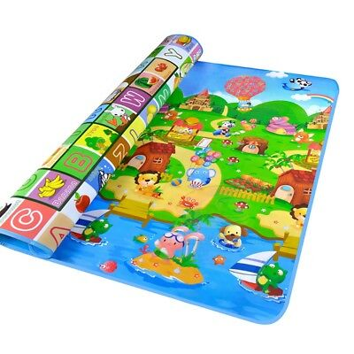 2M*1.8M Waterproof Baby Crawl Play Mat Kids Foam Puzzle Game Blanket Picnic Rug