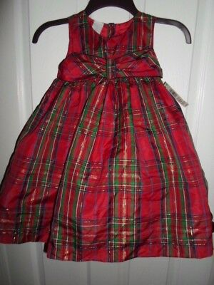 WONDERKIDS TODDLER BABY GIRL CHRISTMAS HOLIDAY RED GREEN DRESS 12 Mos 2T 3T 4T