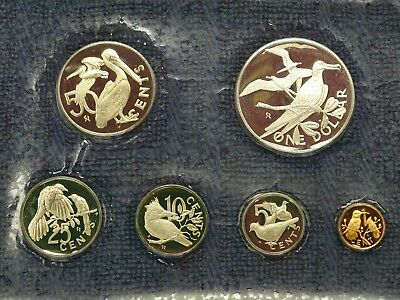 British Virgin Islands 1973 Proof Set, with 0.76 oz. of pure SILVER!