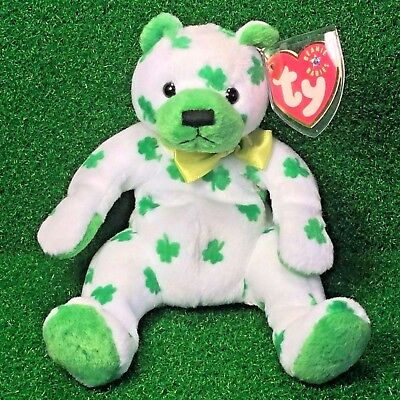 NEW TY Beanie Baby Clover The Bear 2001 MWMT Retired - Free Shipping