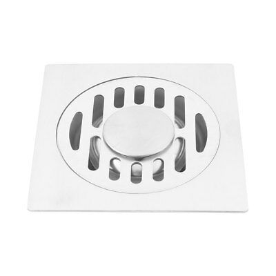 Hotel Cafe Stainless Steel Floor Drain Cover Strainer Hair Stopper Silver Tone