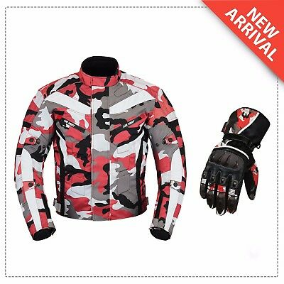 Xmas Sale Offer - Motorbike Motorcycle Waterproof Jacket Glove Leather Armoured