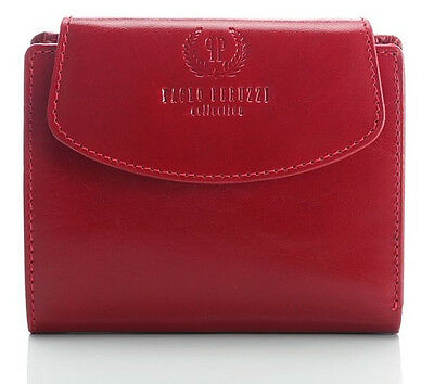 WOMEN`S PURSE WALLET PAOLO PERUZZI ROSSO RED LEATHER 301-pp
