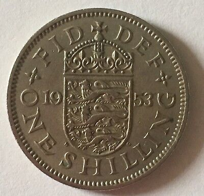 VINTAGE QEII SHILLING COIN-YOUR CHOICE OF DATE 1953-65 - great birth year gift!