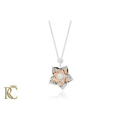 BRAND NEW Clogau 18ct White & Rose Gold Imperial Rose Pendant £4300 off!