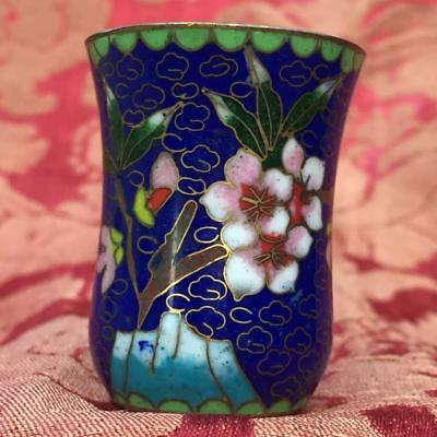 GENUINE ANTIQUE CHINESE c.1900-1920s CLOISONNE CUP IN EXCELLENT CONDITION
