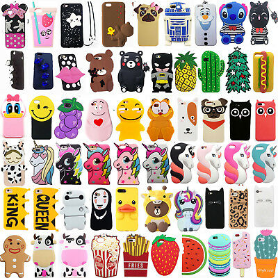 new style 7e7c5 941a3 FOR IPHONE 6/6PLUS 6s/6sPlus Hot 3D Cartoon Soft Silicone Phone Case Covers  Back