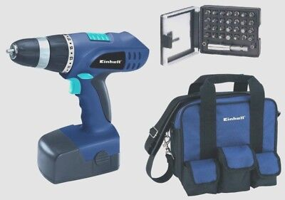 TRAPANO AVVITATORE EINHELL BT-CD 18  V  KIT 4513342 ( 2 batterie + borsa +bits)