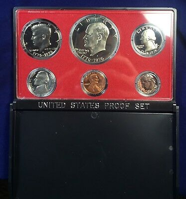 1975-S United States Proof Coin Set - Ike Dollar Half Quarter Dime Nickel & Cent