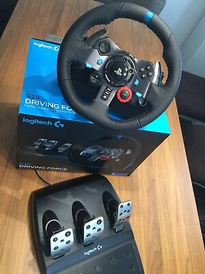 logitech g29 racing lenkrad driving force f r ps4 ps3 und. Black Bedroom Furniture Sets. Home Design Ideas