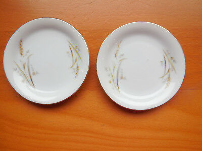 Lot of 2  Golden Harvest Fine China Butter Pats, Made in Japan