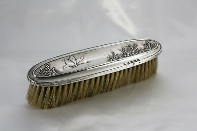 Antique Art Nouveau Sterling Silver Hallmarked Butterfly Clothes Brush