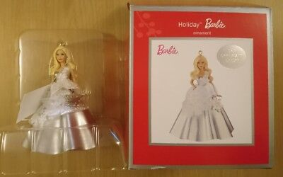BARBIE CHRISTMAS ORNAMENT DECORATION Clintons Heirloom HOLIDAY 25TH ANNIVERSARY