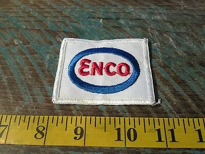 VINTAGE ENCO RACING PATCH TEXAS MOTOR OIL GAS STATION 1961-1972 ENergy COmpany