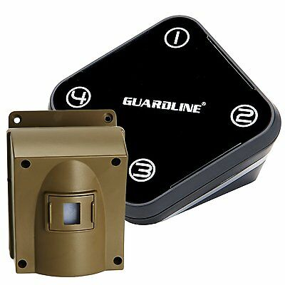 Professional Wireless Motion Alert & Driveway Alarm Security System by Guardline