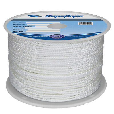 YACHTING BRAID 8MM X 100M NATURAL  - Yacht Rope Sailing Rope - Dinghy Line