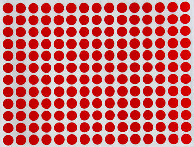 Red Color Coding Stickers 8mm Round Dot Labels Marking Organizing Dots 840 Pack