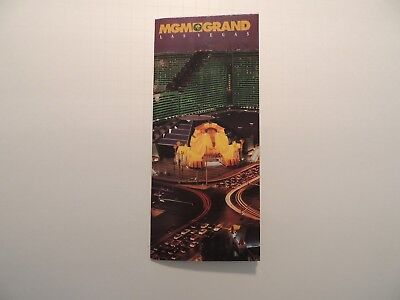 MGM Grand Hotel Casino Las Vegas Nevada vintage brochure property map 1994