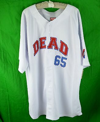 Grateful Dead 65' Baseball Jersey Shirt XL Steal Your Face 50th Anniversary LE