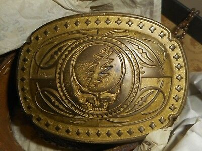 GRATEFUL DEAD Belt Buckle 05 TRUNK LTD Steal Your Face #51/500 Handmade In Italy