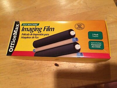 Office Max  2 pack of replacement Panasonic KX-FA55 fax replacement film