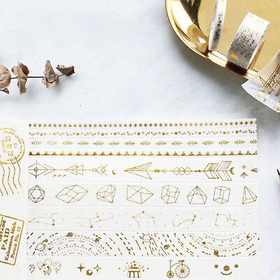 Circus Troupe Arrow Star Golding Washi Tape Adhesive DIY Scrapbooking Stickerss