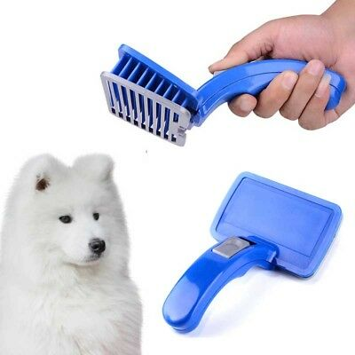 Pet Dog Cat Grooming Trimmer Self Cleaning Hair Fur Brush Comb Shedding Tool