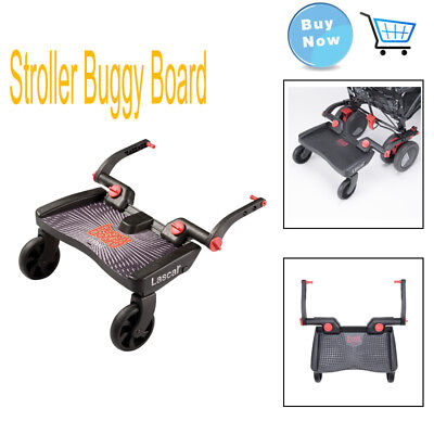 Lascal Stroller Buggy Board with Large Anti-slip Surface 3D Black Prams Accs