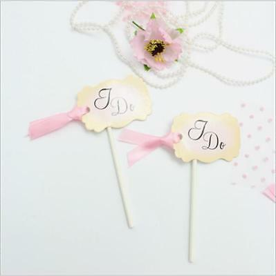 "30pcs""I DO"" cake Decoration Birthday  Part Cupcake Topper"