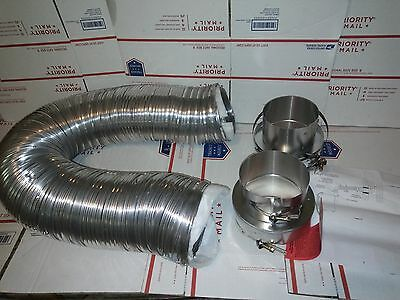 "5"" Flexible Double Wall Insulated Vent Connector Kit - Burnham Gas ES2 38Y0"