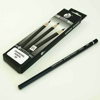 Wooded Charcoal Drawing Pencils - Box of 12 Assorted