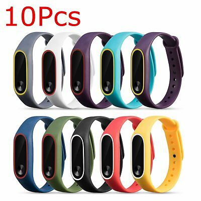 10pcs Sport Silicone Watch Band Strap Replacement Wristband for XIAOMI MI Band 2