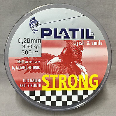 Platil Strong 3.80kg x 300m Mono Line - Brown *New in Packaging*