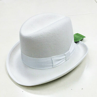 1a2c9e1f6a7 WHITE GODFATHER HOMBURG Shannon Phillips Fedora Lined Wool Hat NEW ...