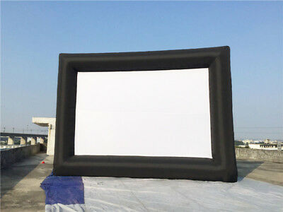 Oxford Cloth Giant Inflatable Movie Advertising Screen(6*4m) Outdoor Indoor NEW