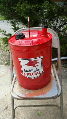 Vintage 5 Gallon MOBIL Gas and Oil Can