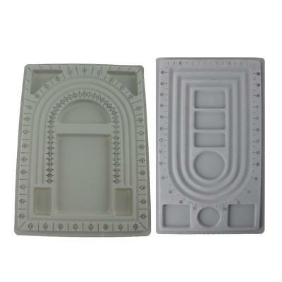 2pcs Bead Stringing Board Flocked Trays Beading Board 2 Size Jewelry Design