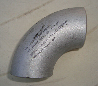 "Steel Elbow Weldable 1-1/2"" 90 degrees No Ends free post"