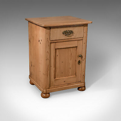 Antique Small Cabinet Pot Cupboard or Bedside - Quality Victorian Pine c1900