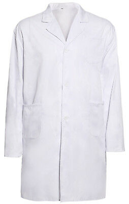 Mens Doctor Costume Lab Coat Scientist Medical Surgeon Technician Work Wear