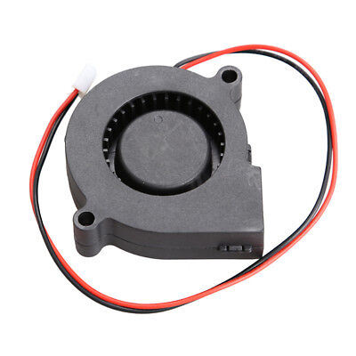 Fashion Black Brushless DC Cooling Blower Fan 2 Wires 5015S 0.14A 50x15mm DC12V
