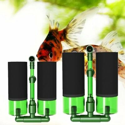 Aquarium Biochemical Double Sponge Filter Fish Tank Air Powered Filter Pump Pop~
