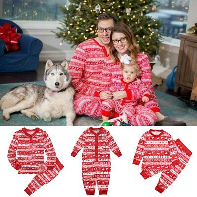 Children Adult Family Matching Christmas Pajamas Sleepwear Nightwear Pyjamas