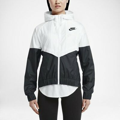 Nike WindRunner Women s Jacket Windbreaker White Black 804948-100  G  7affa044d78f