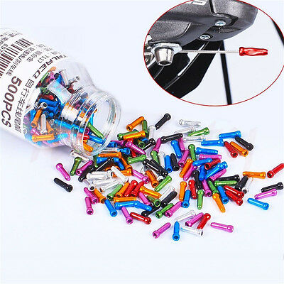 15x Alloy Bike Bicycle Brake Shifter Inner Cable Ends Caps Tips Ferrules Crimps